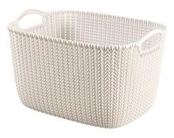 Curver Koszyk Knit L prostokątny kremowy 19 l