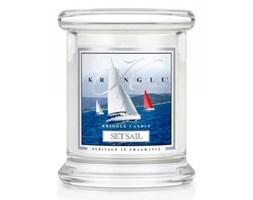 Kringle Candle - Set Sail - mini, klasyczny słoik (128g)