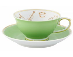 Filiżanka ze spodkiem Gipsy Tea Vista Alegre zielona