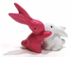Figurka Bunnies In Love króliczki biało - różowy Goebel