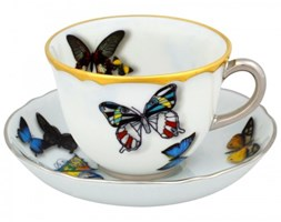 Filiżanka do kawy ze spodkiem Butterfly Parade Christian Lacroix Vista Alegre