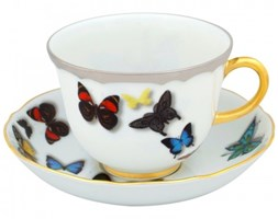 Filiżanka do herbaty ze spodkiem Butterfly Parade Christian Lacroix Vista Alegre