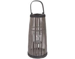 Wiklinowy lampion z uchwytem, świecznik dekoracyjny - wys. 57 cm