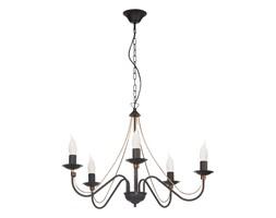 Lampa wisząca MONIC 5 pł. Lampex czarna 519/5 CZA