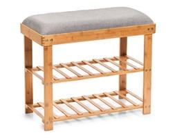 Szafka z bambusa na buty, siedzisko z regałami, drewniany stołek do przedpokoju.