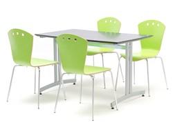Zestaw mebli do jadalni, stół 1200x700 mm, czarny + 4 krzesła, zielony/szary