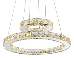 Lampa wisząca LED GLOBO MARYLIN I styl glamour / kryształ chrom, kryształki akrylowe przeźroczysty 67037-24A