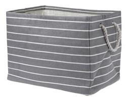 Koszyk do przechowywania, kosz na pranie, pojemnik na zabawki, 43x30x32 cm, odcienie szarości