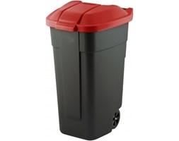 Plastikowy pojemnik na śmieci CURVER CZERWONY 110 l -- czerwony - rabat 10 zł na pierwsze zakupy!