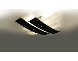 SOLLUX Designerska Lampa Szklany Plafon Na Sufit ANDREA 50 Czarny
