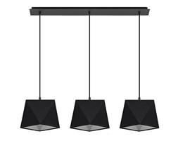 SOLLUX Żyrandol Nad Stół Abażury Lampa Wisząca DIAMENT 3 Czarny