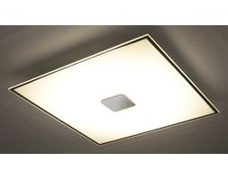 SOLLUX Nowoczesna Lampa Sufitowa Szklany Plafon MARIO 40 cm Chrom LED