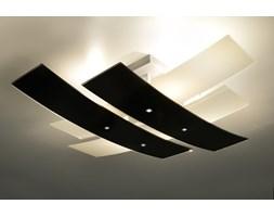 SOLLUX Designerska Lampa Szklany Plafon Na Sufit ANDREA 70 Czarny