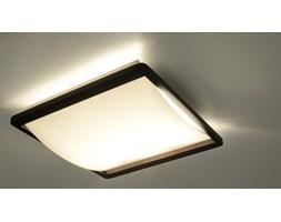SOLLUX Nowoczesna Lampa Sufitowa Prostokątna Szklany Plafon ENZO Wenge