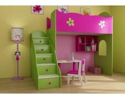 Łóżko - antresola dla dzieci - BabyBest - Clasic z komodą