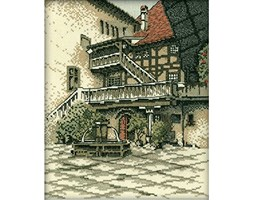 "RTO Castle courtyard krajami TED Cross Stitch Kit-9""x11"" 14 Count"