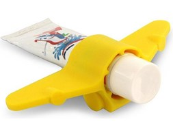 Stojak na pastę do zębów Plane żółty