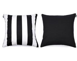 Poszewka dekoracyjna Belts 60 x 60 cm czarna