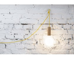 Lampa Single Woody Tube, Hop Design, do gniazdka