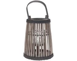 Stylowa latarnia z uchwytem, lampion, latarenka na świeczkę, drewno wierzbowe