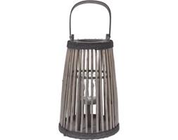 Praktyczna latarenka z wierzby , drewno wierzbowe, szklany pojemnik na świecę, uchwyt do przenoszenia, zawieszenia, kolor brązowy