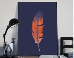 Plakat premium - Pióro na ciemnym tle - 29.7 x 42 cm
