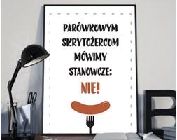 """Plakat premium - """"Parówkowym skrytożercom mówimy stanowcze NIE!"""" - typografia - 29.7 x 42 cm"""