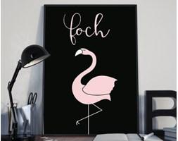 """Plakat premium - """"Foch"""" z flamingiem - typografia - 50 x 70 cm"""