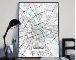 Plakat premium - Mapa Warszawy - 50 x 70 cm