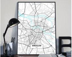 Plakat premium - Mapa Wrocławia - 50 x 70 cm