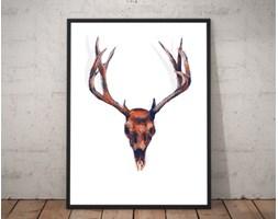Plakat premium - Poroże jelenia - ilustracja - 70 x 100 cm