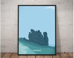 Plakat premium - Ilustracja - Karkonosze - 70 x 100 cm