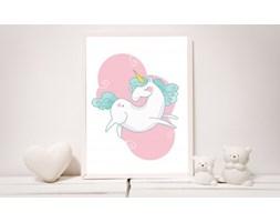MeowBaby® Plakat do Pokoju Dziecka - Różowy Jednorożec