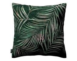 Dekoria Poszewka Kinga na poduszkę, zielony w liście, 43 × 43 cm, Velvet