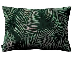 Dekoria Poszewka Kinga na poduszkę prostokątną, zielony w liście, 60 × 40 cm, Velvet