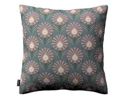 Dekoria Poszewka Kinga na poduszkę, różowe wzory kwiatowe na szarym tle , 43 × 43 cm, Gardenia