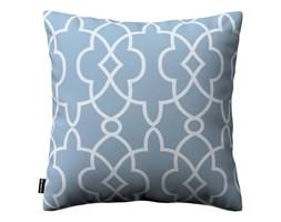 Dekoria Poszewka Kinga na poduszkę, błękitny w biały marokański wzó, 43 × 43 cm, Gardenia