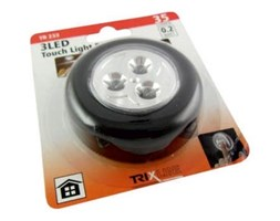 LED Nocne światło dotykowe LED/0,2W/3xAAA czarne