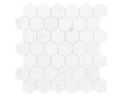 CARRARA WHITE HEXAGON 48 29,8x30,2