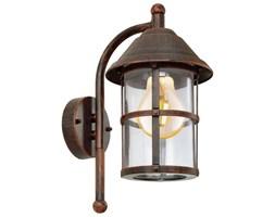 Lampa zewnętrzna ścienna SAN TELMO Eglo styl antyczny stal nierdzewna szkło antyczny brązowy 90184