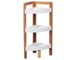 Narożna półka łazienkowa, bambusowa - 3 poziomy