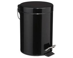 Kosz łazienkowy, pojemnik na śmieci, pojemność 3 l, otwierana pokrywa, czarny
