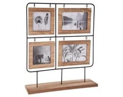 Drewniana ramka na 4 zdjęcia, stojąca ramka - mini galeria 42 x 36 cm