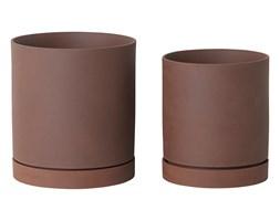 Doniczki I Osłonki Ceramiczne Kolor Brązowy Wyposażenie