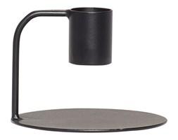 Świecznik metalowy BLACK ⌀8x6cm czarny, Hübsch