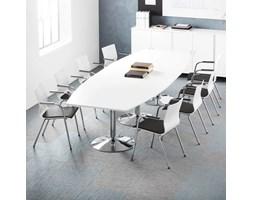 Zestaw konferencyjny, Flexus + Whistler, stół i 8 szarych krzeseł