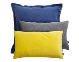 VELVET +LOFT+WEŁNA niebiesko-żółto-szary zestaw poduszek dekoracyjnych