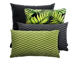 PRAM+BREAK+LIŚCIE czarno-zielony zestaw poduszek dekoracyjnych