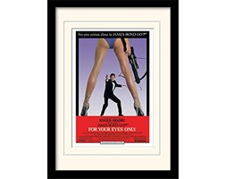 A3-plakat, chowane i oprawiony, James Bond for your Eyes Only