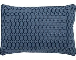 Poduszka w geometryczny wzór Bloomingville granatowa